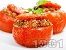 Рецепта Пълнени домати с кайма и ориз